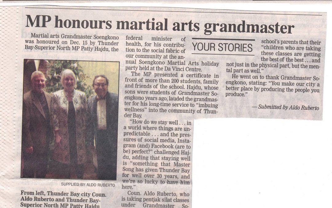 GM Soengkono Article in the Chronicle Journal!